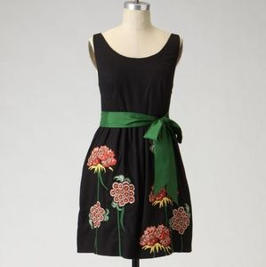 Anthropologie Floreat Cranesbill Embroidered Dress